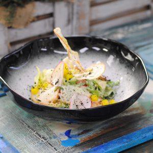 Салат с цыплёнком (а-ля «тандури»)