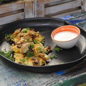 Домашние картофельные драники с грибами