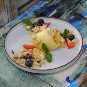 Десерт «Маракуйя-Горгонзола»