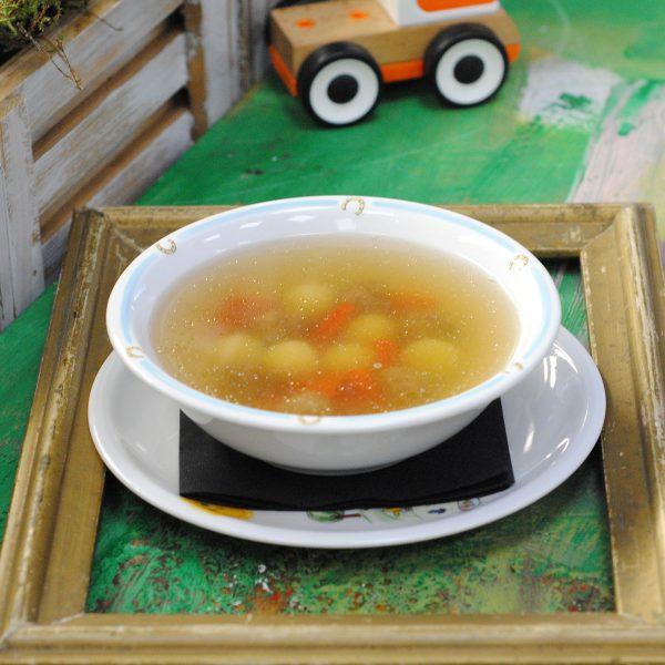Овощной суп с мясными фрикадельками - Смешарики